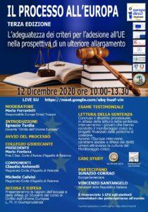 Read more about the article Il Processo all'Europa, 3ª edizione