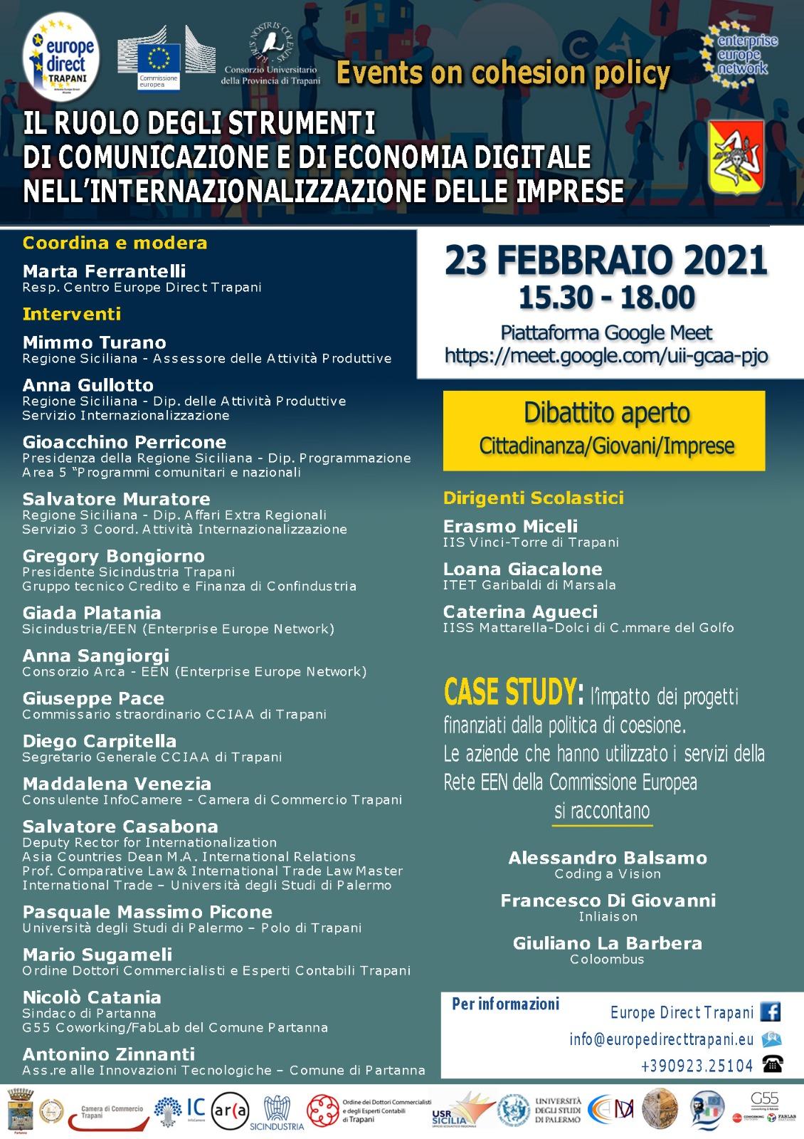 """Dibattito: """"Il ruolo degli strumenti di comunicazione e di economia digitale nell'internazionalizzazione delle imprese"""""""