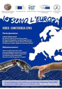 Read more about the article Io sono l'Europa – Video Conferenza EPAS