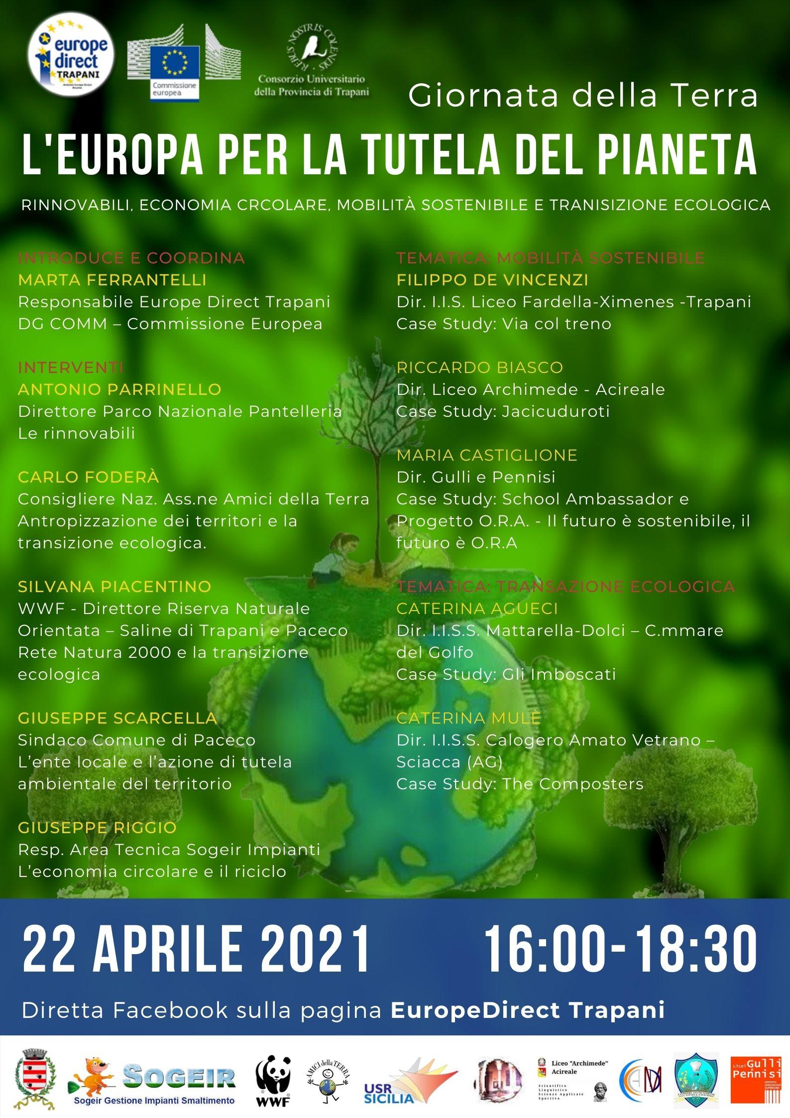 Giornata della Terra – L'Europa per la tutela del Pianeta