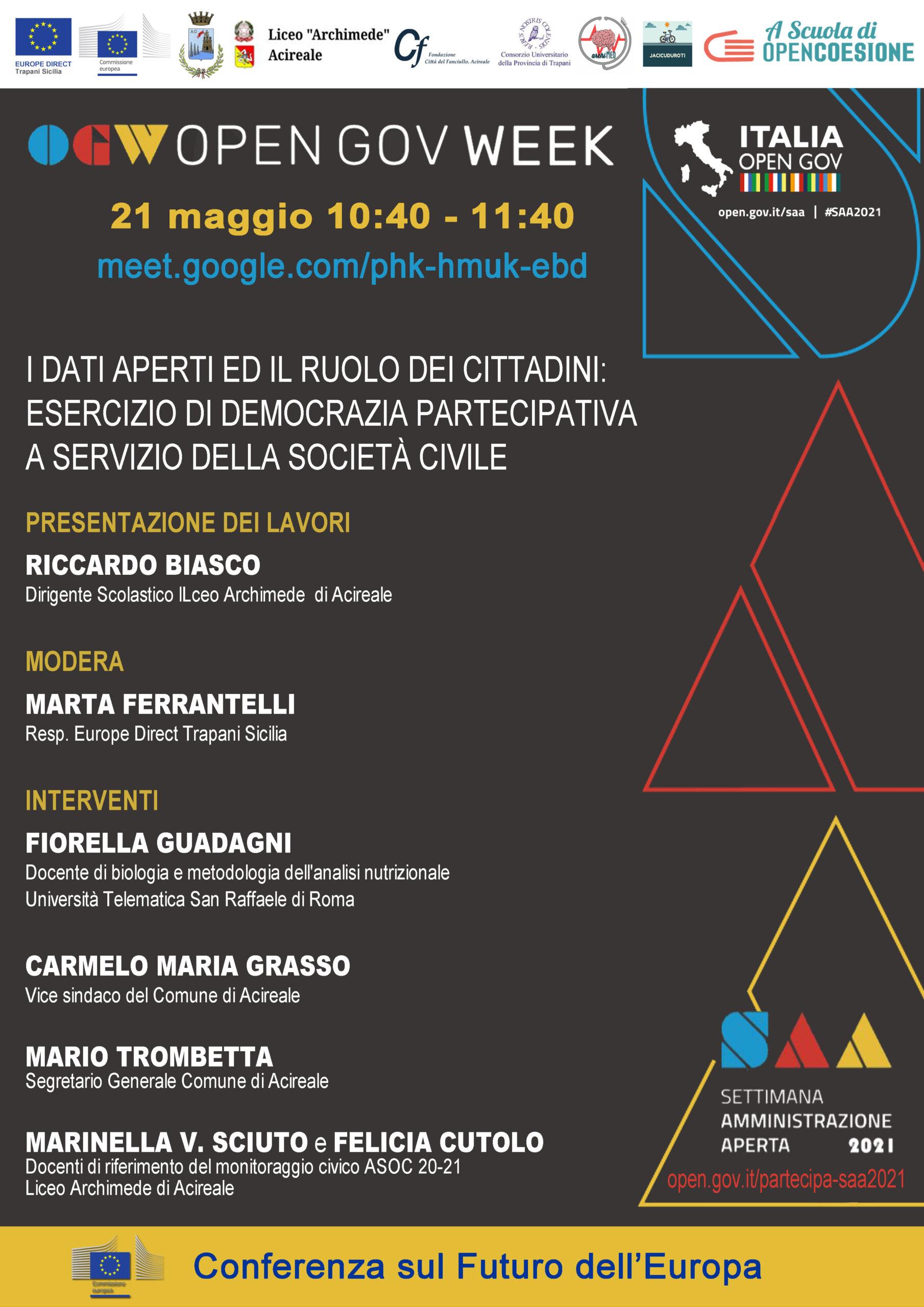 You are currently viewing Settimana dell'Amministrazione Aperta 2021
